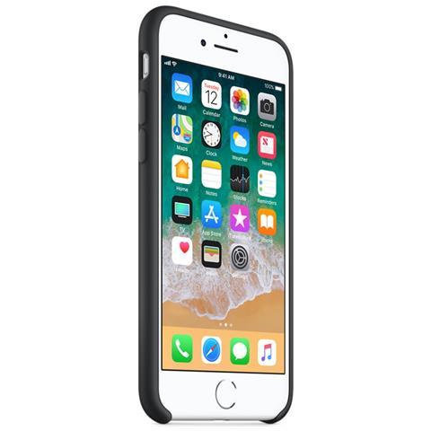APPLE Custodia in Silicone per iPhone 8 e 7 Colore Nero