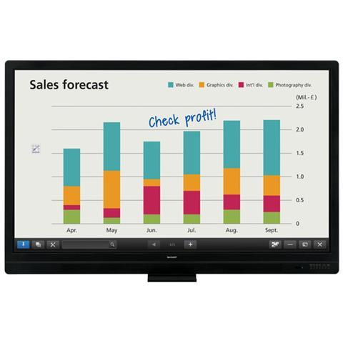 "SHARP - Lavagna Interattiva 65"" LCD Multi-Touch PN-65SC1-EDU 1920x1080 Full HD - ePRICE"