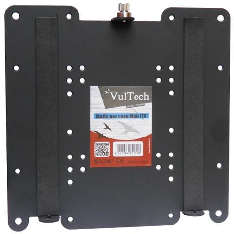 VULTECH Staffa Supp. Monitor Tv Per Mini Case Vesa 75x75 Mm