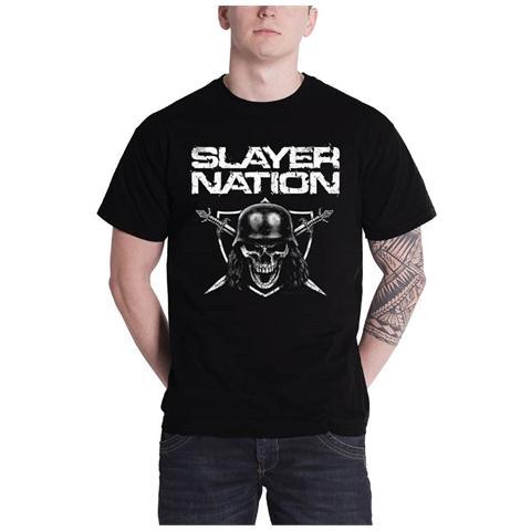 ROCK OFF Slayer - Slayer Nation Black (T-Shirt Unisex Tg. S)