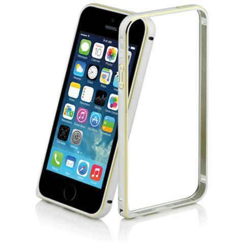 FONEX Just Bumper Protettivo in Alluminio per iPhone 5/5S / SE Colore Argento
