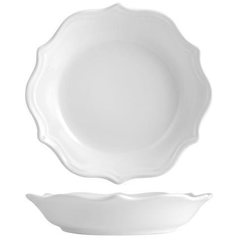 H&H Piatto Ceramica Adele Bianco Fondo Cm22 Tableware
