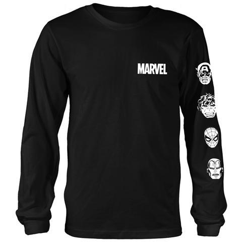 PHM Marvel Comics - Stacked Heads (Maglia Manica Lunga Unisex Tg. XL)