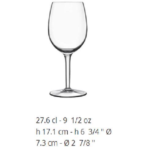 """Rubino """""""" Calici In Vetro Cristallino Qualita' Professionale 100% Made In Italy - Vino"""