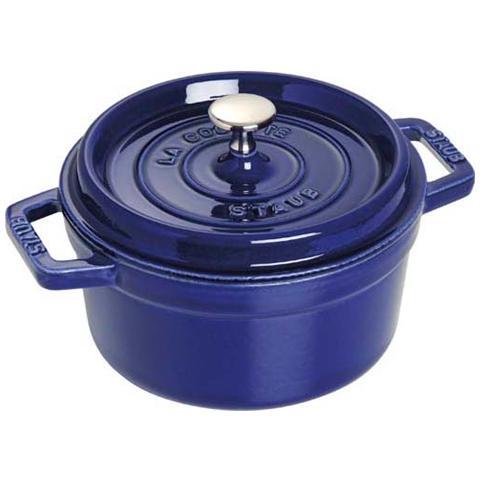 Cocotte 2 Maniglie con Coperchio 30 cm Blu