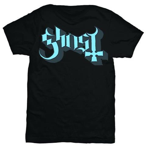 ROCK OFF Ghost - Blue / Grey Keyline Logo (T-Shirt Unisex Tg. S)
