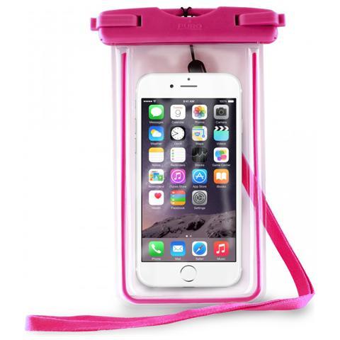 PURO Custodia Impermeabile IPX8 Universale per Smartphone fino a 5.7'' - Rosa