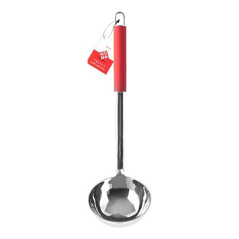 Mestolo Inox Manico Antiscivolo Rosso Strumenti Da Cucina