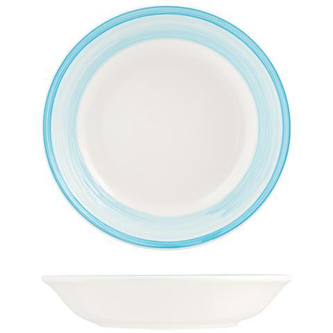 H&H Piatto Ceramica Capri Azzurro Fondo Cm21 Stoviglie