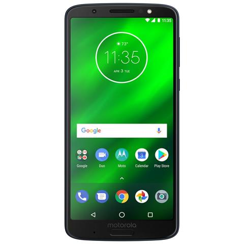 "MOTOROLA Moto G6 Plus Blu 64 GB 4G / LTE Dual Sim Display 5.9"" Full HD+ Slot Micro SD Fotocamera 12 Mpx Android Italia"