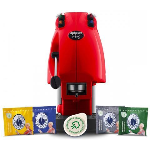 Macchina da Caffè Semi-automatica Frog Serbatoio 1,5 Lt. Potenza 650 Watt Colore Rosso + 6...