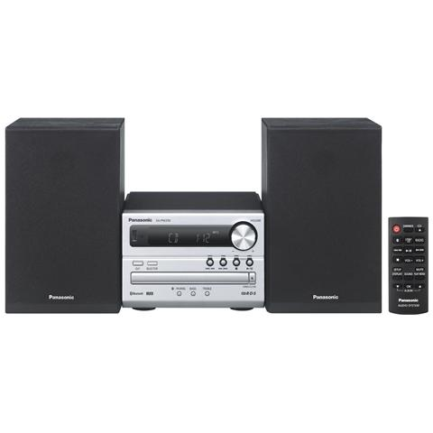 PANASONIC Sistema Micro Hi-Fi SC-PM250 Lettore CD Supporto MP3 Potenza 20Watt Bluetooth USB