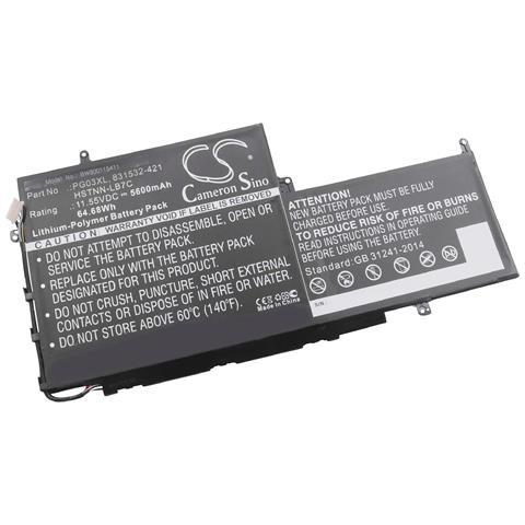 Image of Litio-polimeri Batteria 5600mah (11.55v) Nero Per Laptop Notebook Hp Spectre X360 15-ap001nf, X360 15-ap001nx, X360 15-ap002nf