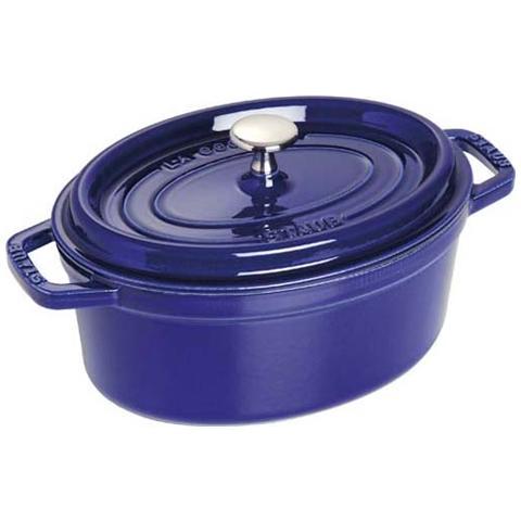Cocotte in Ghisa con Coperchio Diametro 33 cm Capacità 6.7 lt Colore Blu Scuro - Linea La Cocotte
