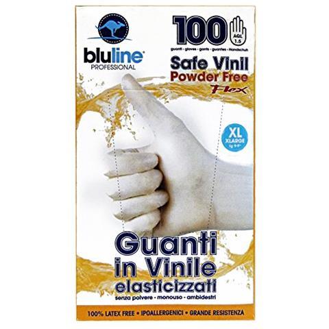 Bluline Guanti X 100 Vinile Flex Bluline Xl (elasticizzato) Giardinaggio