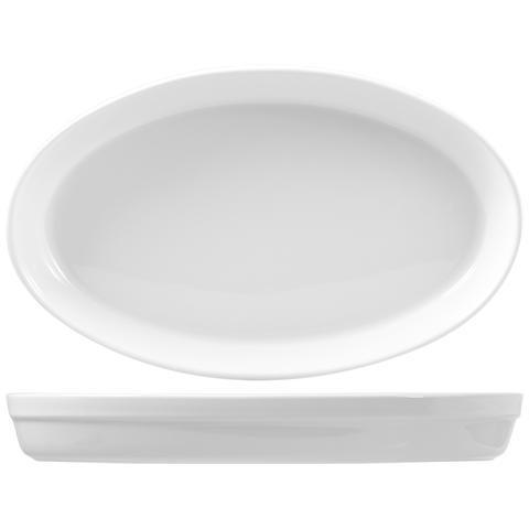 Pirofila Ovale Porcellana Roma Cm45 Strumenti Da Cucina
