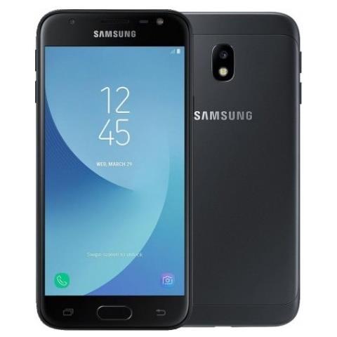"""SAMSUNG Galaxy J3 (2017) Nero 16 GB 4G / LTE Display 5"""" HD Slot Micro SD Fotocamera 13 Mpx Android Vodafone Italia"""