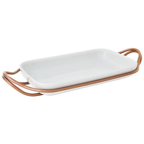 Supporto C / pirofila Rettan. Cm 41x27 New Living Pvd Hi-tech Copper