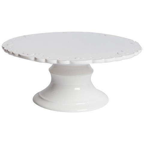 Alzatina Ceramica Bianca Cuoricini