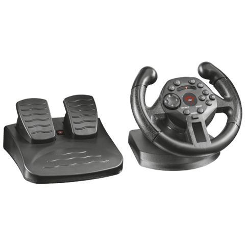 TRUST GXT 570 KENGO COMPAC Volante da corsa compatto con pedali e tecnologia di feedback a vibrazione