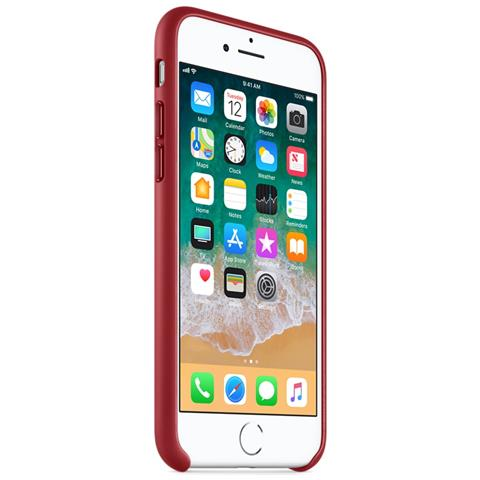 APPLE Custodia in Pelle per iPhone 8 e 7 Colore Rosso