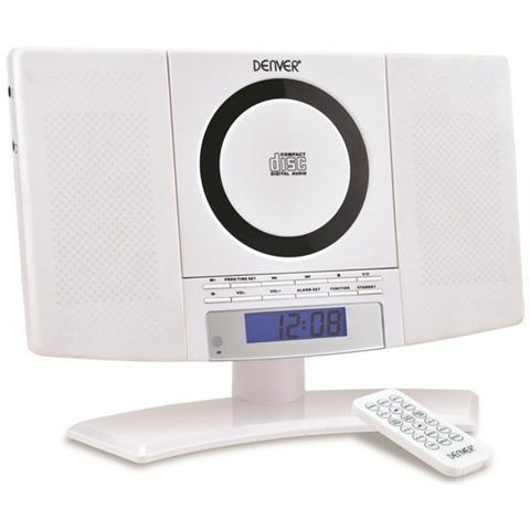 DENVER MC-5220, Digitale, FM, Lettore, AC, LCD, Blu