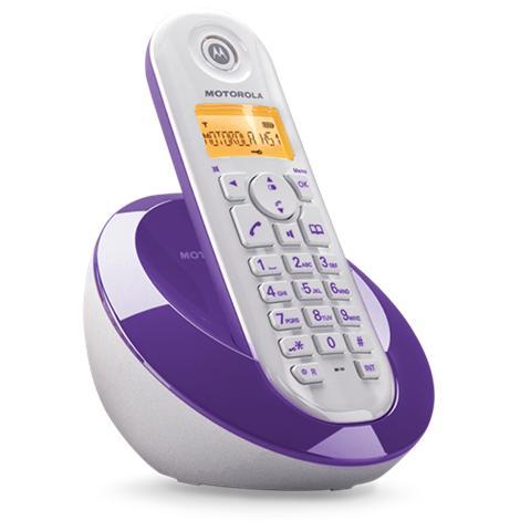 MOTOROLA C601 Telefono Cordless Colore Viola