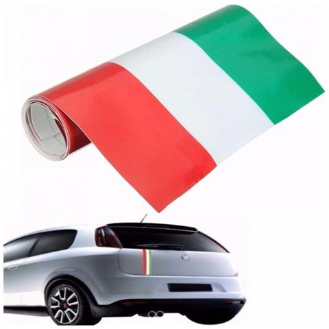 DOBO® Italia Striscia Adesiva Nastro Vinile Decal Auto Moto Tuning Bandiera 15cm X 5m