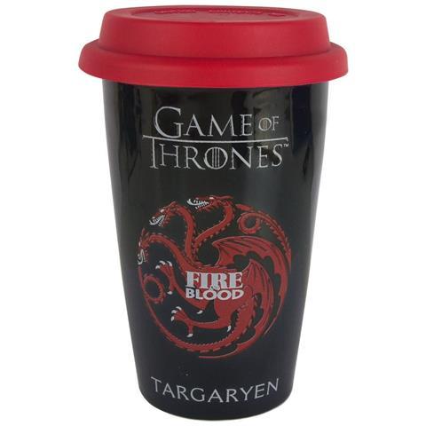 Tazza Da Viaggio Con Stemma Di Casa Targaryen (taglia Unica) (nero)