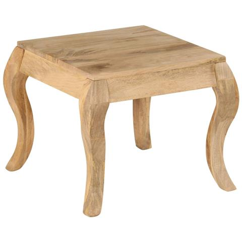Tavolini In Legno Da Salotto.Vidaxl Tavolino Da Salotto In Legno Massello Di Mango 45x45x40cm