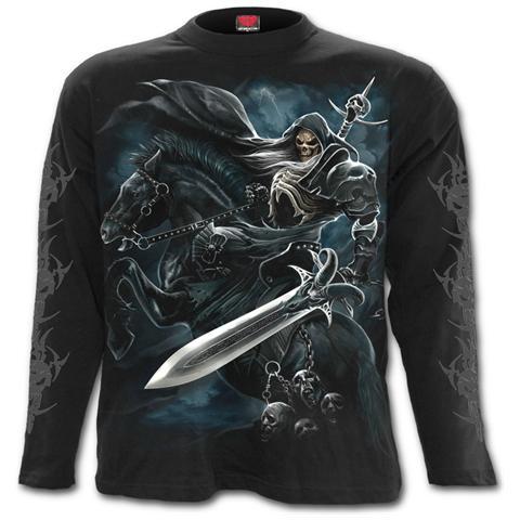 SPIRAL Grim Rider Longsleeve T-shirt Black (T-Shirt Manica Lunga Unisex Tg. L)