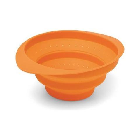 Giannini Colapasta Realizzato In Silicone Di Colore Arancione Linea Factotum Cod. 24931