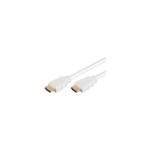 Goobay Wentronic 5m HDMI 5m HDMI HDMI Bianco cavo HDMI