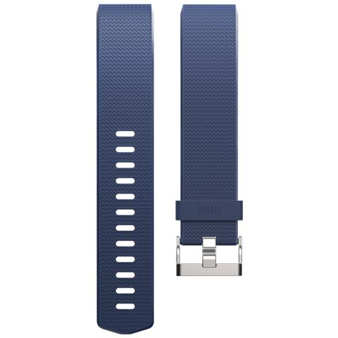 Fitbit Cinturino di ricambio per Charge 2 in gomma Taglia Large - Blu