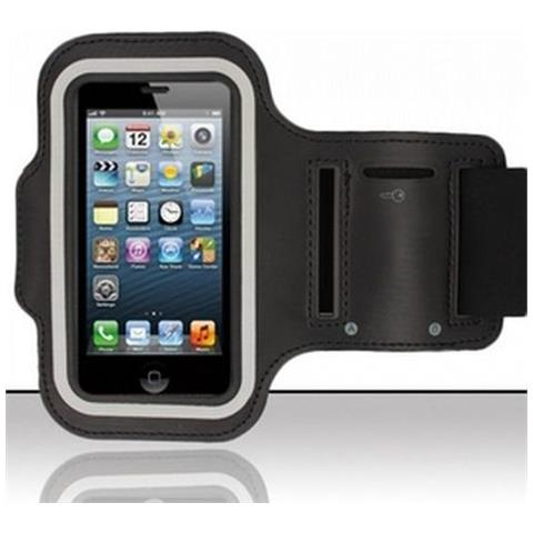 NetworkShop Custodia Fascia Da Braccio Sport Armband Nero Per Iphone 5