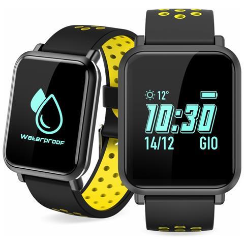 "Techmade Sportwatch S1 Impermeabile Display 0.96"" Bluetooth Giallo – Italia"