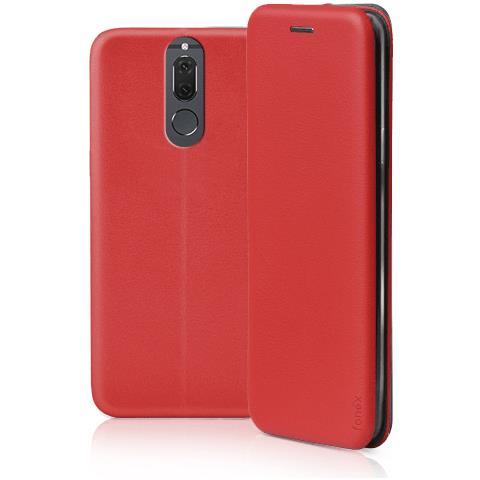 FONEX Profile Book Custodia a Libro per Huawei Mate 10 Lite Colore Rosso