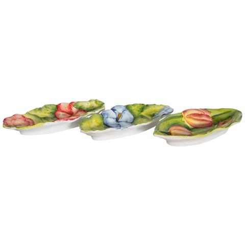 Set 3 Portamestoli In Ceramica Di Bassano L84pr39h12 Cm Made In Italy