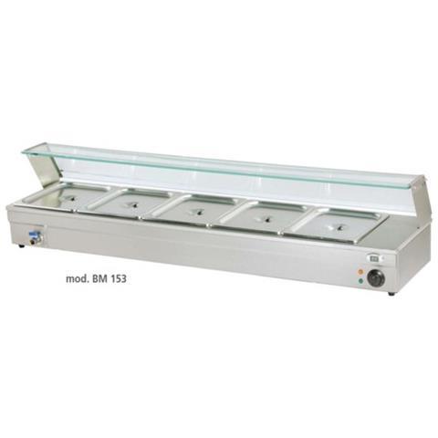 Bagnomaria Elettrico Acciaio Vaschette 5 Gn 1/3 Rs0146