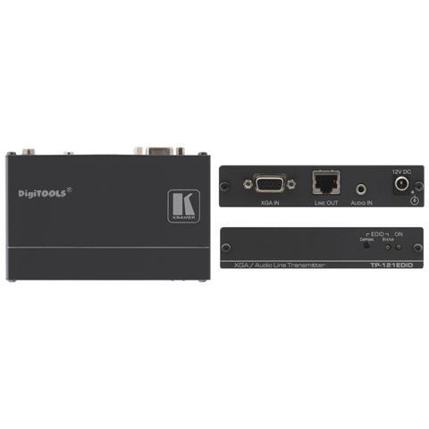 KRAMER ELECTRONICS Trasmettitore Video e Audio Nera 12 V 1920 x 1200 Pixels TP-121EDID
