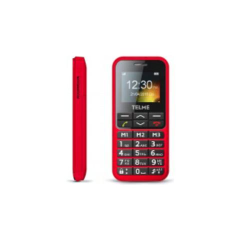 "TELME C151 Senior Phone Colore Rosso Display 1.8"" Bluetooth con Tasti Grandi +SOS"