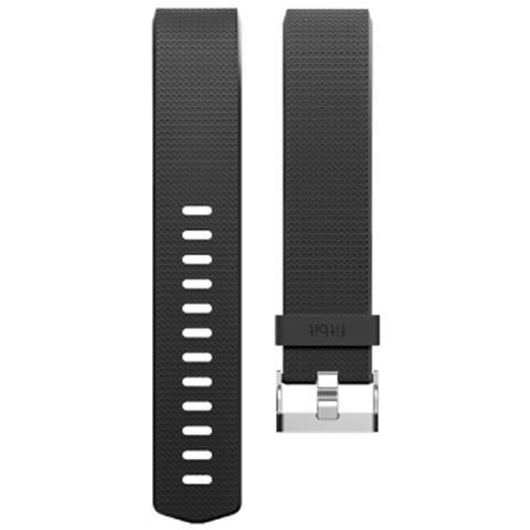 Fitbit Cinturino di ricambio Classic per Charge 2 in gomma Taglia Large - Nero