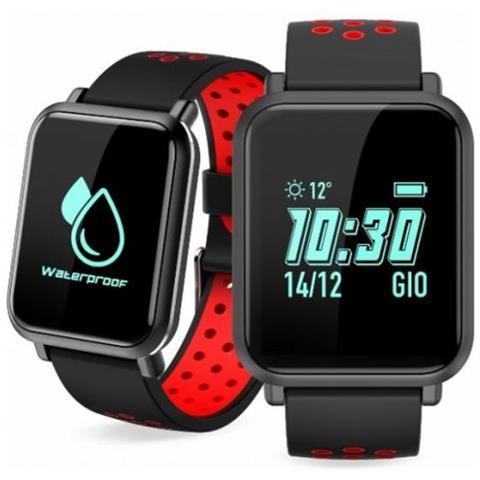 "Techmade Sportwatch S1 Impermeabile Display 0.96"" Bluetooth Rosso – Italia"