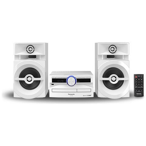 Image of Home Audio Mini System Hi-Fi SC-UX104EG-W Lettore CD Supporto MP3 Potenza Totale 300 W USB Bianco