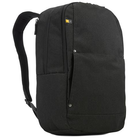 Huxton Daypack, Nero, Poliestere, Front pocket