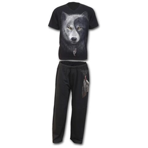 SPIRAL Wolf Chi - 4pc Mens Gothic Pyjama Set (Pigiama Uomo Tg. S)