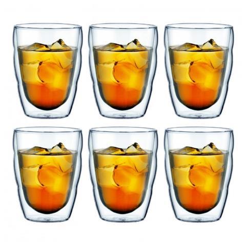 Set 6 bicchieri Doppia parete 0.25 l Trasparente
