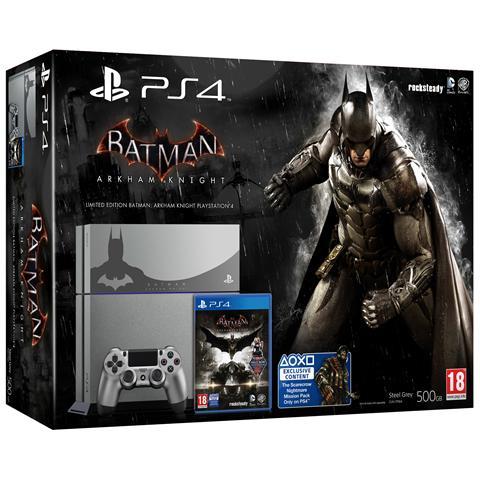 Image of Console Playstation 4 PS4 500 Gb Steel Grey + Gioco Batman Arkham Knight Limited Bundle