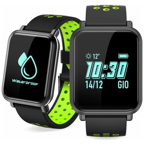 "Techmade Sportwatch S1 Impermeabile Display 0.96"" Bluetooth Verde – Italia"