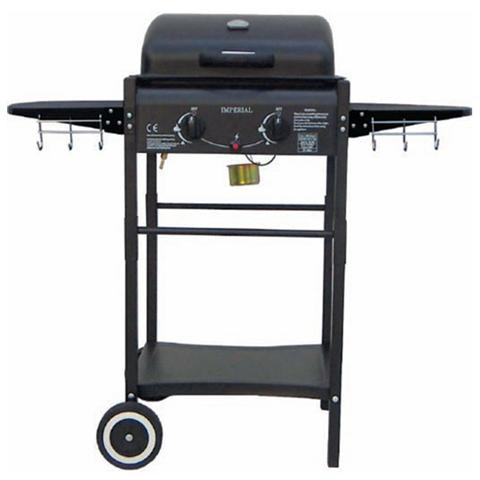 Barbecue a Gas con Pietra Lavica e Griglia Cromata